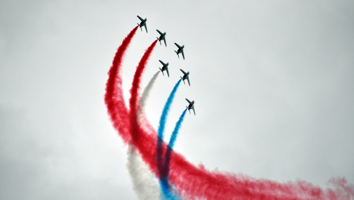 Aircraft airshow aviation contrails skyscapes wallpaper
