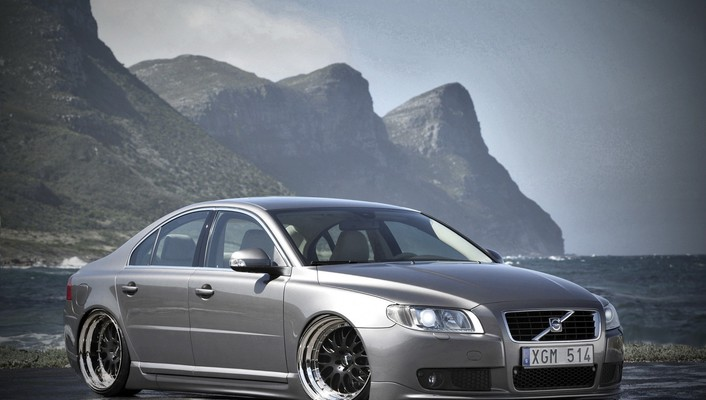 Volvo cars mountains vehicles wallpaper