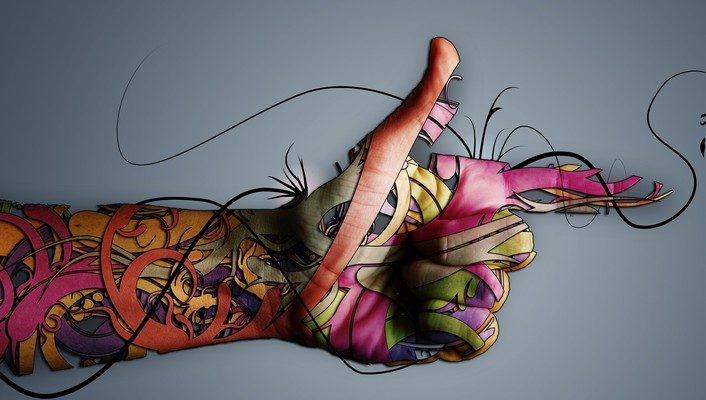 Hands artwork colors graphic wallpaper