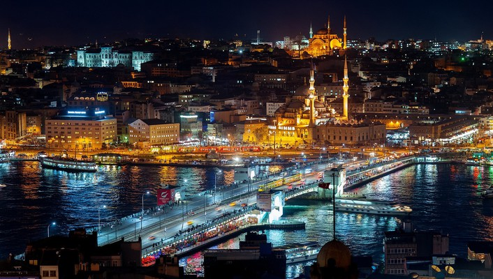 Istanbul at night wallpaper