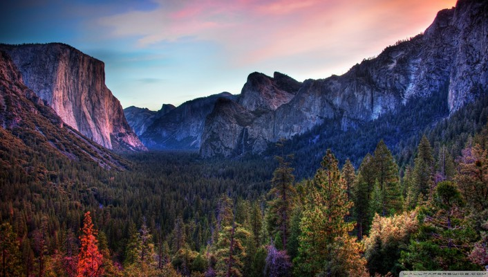Awesome yosemite valley hdr wallpaper