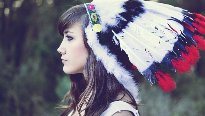 Marta head dress native americans culture aragonés wallpaper