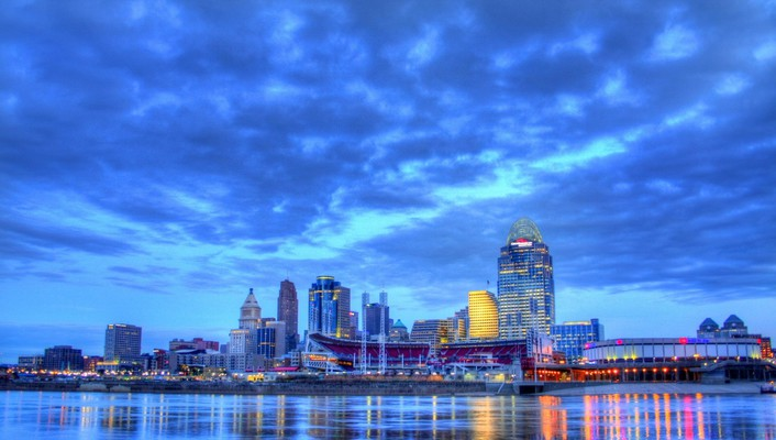 Beautiful nashville tennessee riverfront hdr wallpaper