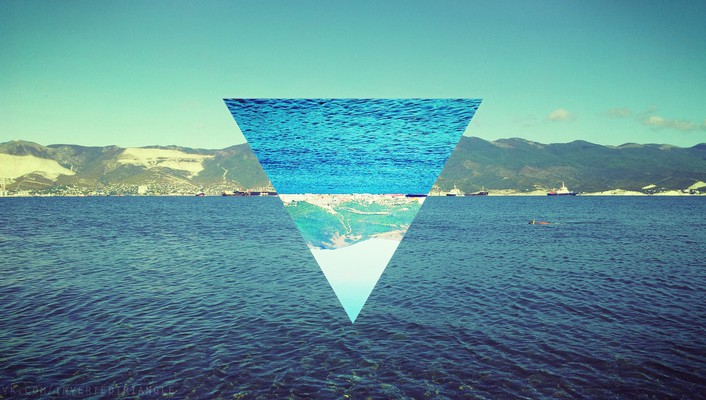 Water nature widescreen sea 72 triangle wallpaper