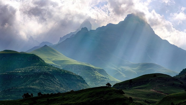 Drakensberg mountains tallest in south africa wallpaper