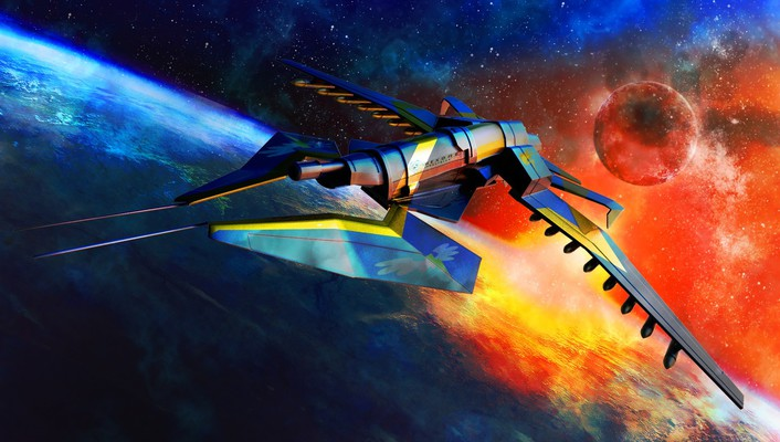 Spitfire astronomy outer space science fiction spacescape wallpaper