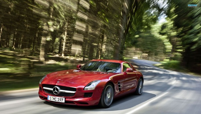 Amg mercedesbenz sls ecell wallpaper