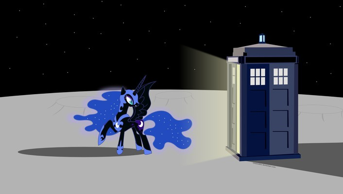 Moon my little pony princess luna tardis wallpaper
