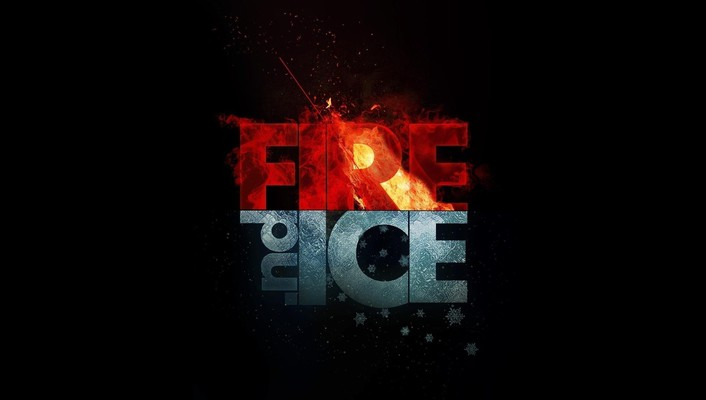 Fire ice minimalistic wallpaper