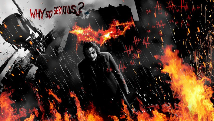 Joker batman dark knight why so serious? wallpaper
