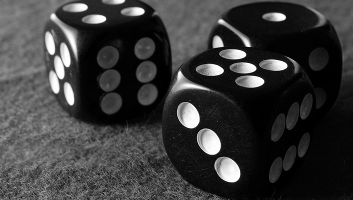 Black dices wallpaper