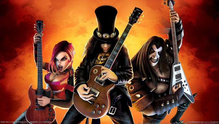 Guitar hero video games wallpaper