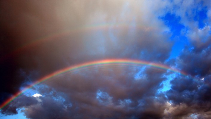 Rainbows skyscapes wallpaper