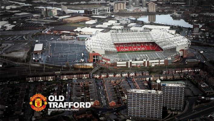 Aerial stadium old trafford wallpaper