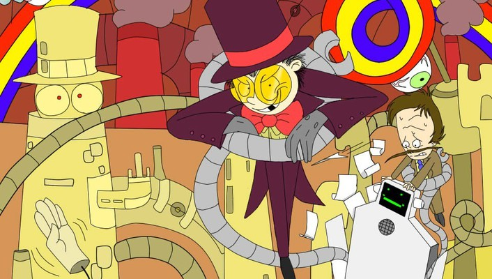 Rainbows machines superjail the warden jailbot jared (superjail) wallpaper