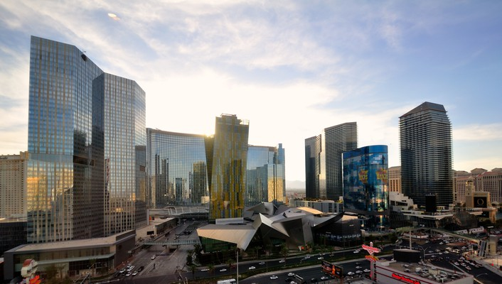 Cityscapes las vegas urban city center wallpaper