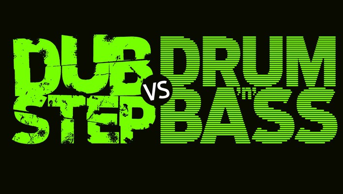 Drum and bass dubstep text typography wallpaper