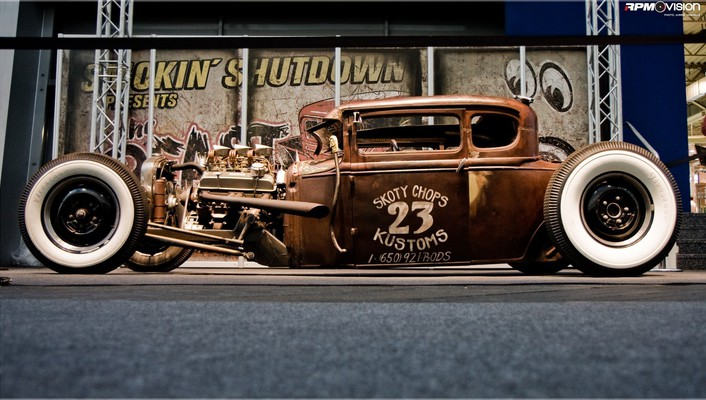 Cars engines hot rod rat automobile wallpaper