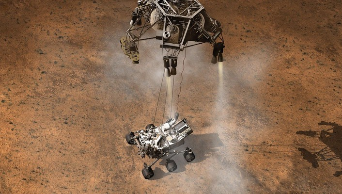 Spaceships vehicles landing land rover curiosity vehicle wallpaper