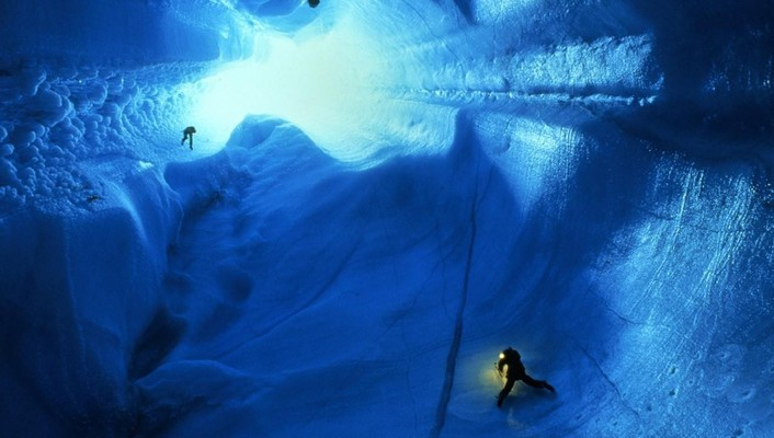 Ice landscapes cave people greenland wallpaper