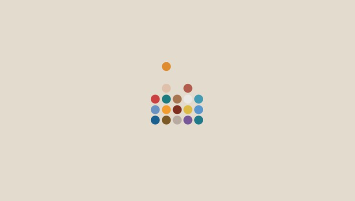 Artwork dots equalizer minimalistic wallpaper