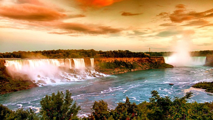 Usa new york city niagara falls waterfalls wallpaper