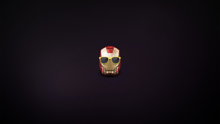 Minimalistic iron man mod glasses marvel comics wallpaper