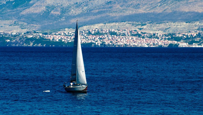 Boats croatia sailboats seascapes mediterranean sea dalmatia wallpaper