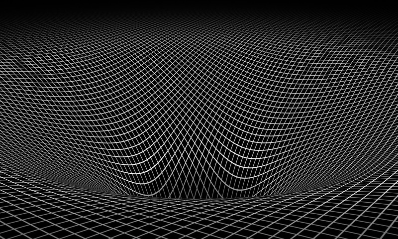 Abstract black and white gravity hole 3d warped wallpaper ...