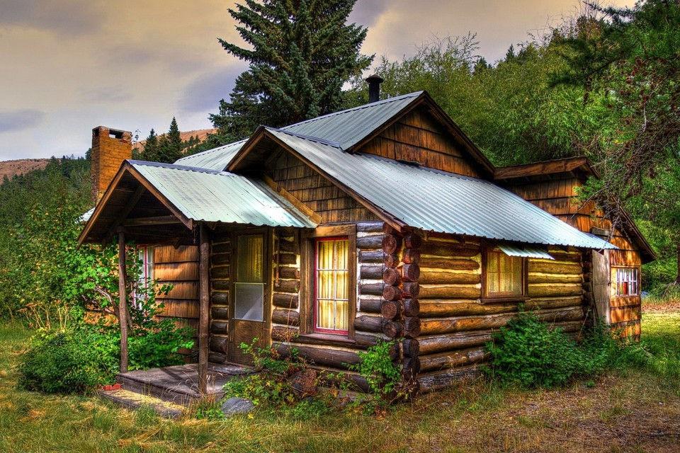Old Wooden Cabin Wallpaper 5905 Pc En