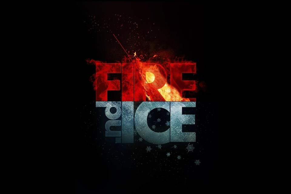 Fire ice minimalistic wallpaper | AllWallpaper.in #946 ...